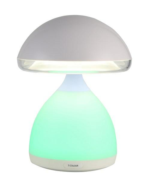Настольная светодиодная лампа 621-1 со встроенным аккумулятором 7 цветов подсветки зарядка от USB