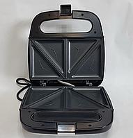 Электрическая сендвичница Domotec MS-7777, бутербродница с антипригарным покрытием 750 ВТ, фото 4