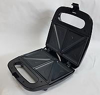 Электрическая сендвичница Domotec MS-7777, бутербродница с антипригарным покрытием 750 ВТ, фото 5