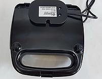 Электрическая сендвичница Domotec MS-7777, бутербродница с антипригарным покрытием 750 ВТ, фото 7