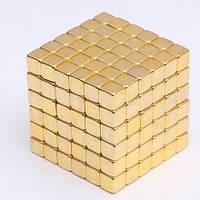 Неокуб Neocube в боксе квадратики золото (Тетракуб)