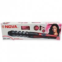 Спиральная плойка для волос NOVA NHC-2007 с керамическо-турмалиновым  покрытие, фото 3