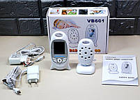 Видеоняня радионяня Baby Monitor VB601 ночное видение, двухсторонняя связь, фото 2