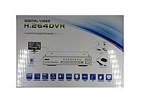 Стационарный Видеорегистратор на 4 Камеры DVR 6104V, фото 3