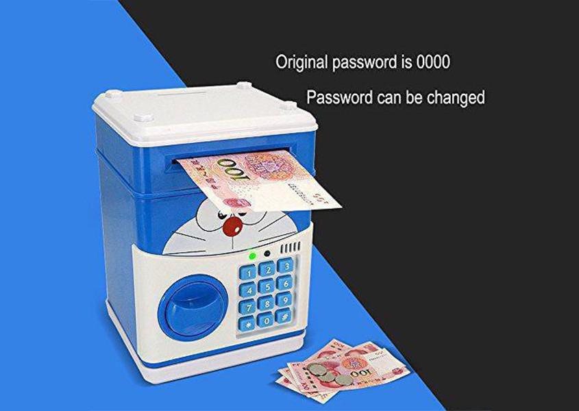 Детская электронная копилка сейф с кодовым замком и купюроприемником