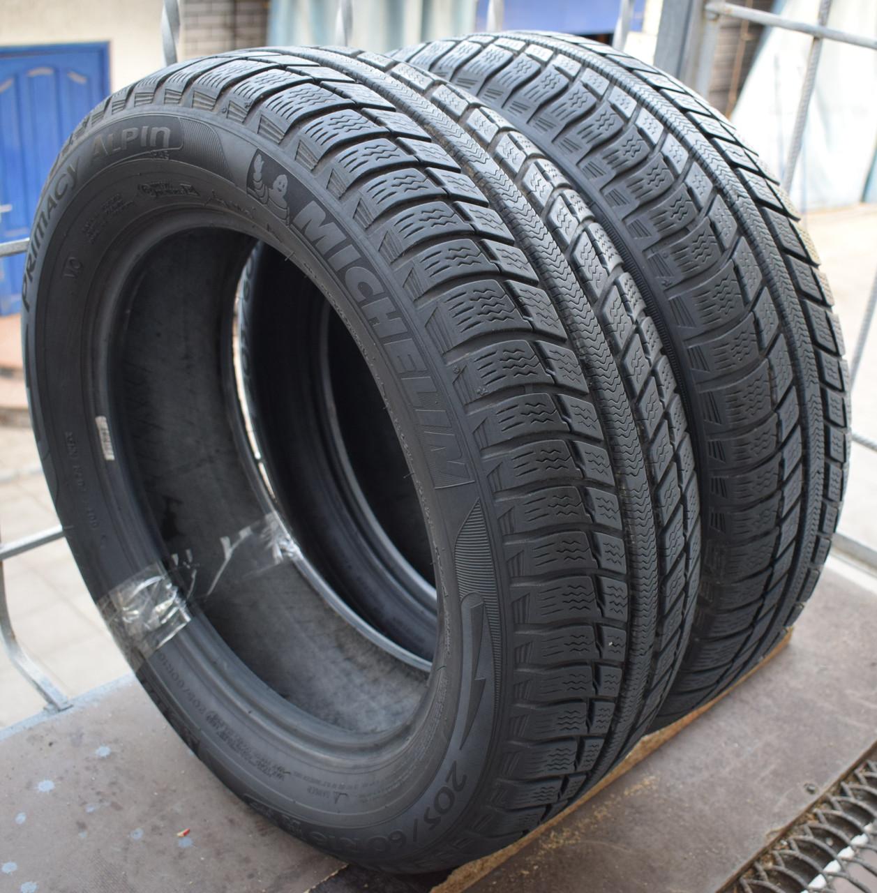 Шины б/у 205/60 R16 Michelin Primacy Alpin PA3, 6-6.5 мм, пара