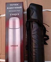 Термос металлический UN-1001, 0,35 л с чехлом, фото 2