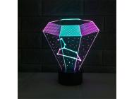 3D светильник Алмаз, фото 2