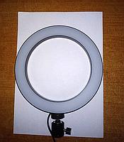 Кольцевая LED лампа диаметром 20см без крепления телефона, питание от usb без штатива, фото 3
