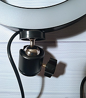 Кольцевая LED лампа диаметром 20см без крепления телефона, питание от usb без штатива, фото 5
