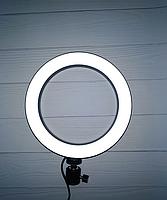 Кольцевая LED лампа диаметром 20см без крепления телефона, питание от usb без штатива, фото 8