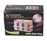Кухонная подставка с шестью емкостями для специй Seasoning six piece set, фото 3