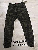 Утепленные брюки на флисе для мальчиков оптом, Seagull, 134-164 рр., фото 1