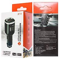 Автомобильный FM модулятор X11 ВТ с Bluetooth и USB зарядкой, фото 2