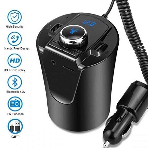 Автомобильный FM трансмиттер модулятор H26+ВТ с Bluetooth MP3