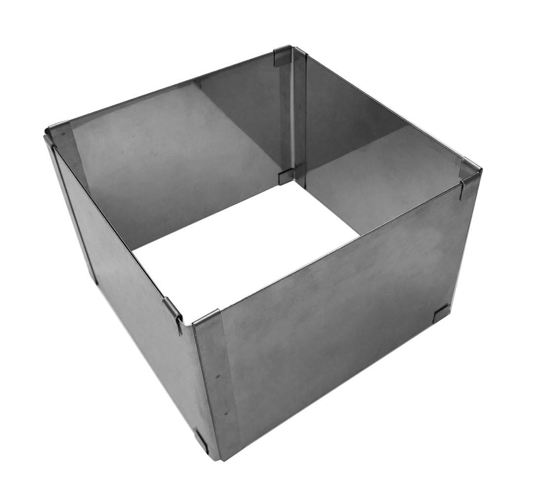 Форма раздвижная для выпечки и сборки десертов Квадрат 10 см высотой