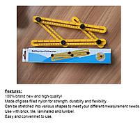 Мультифункциональная линейка Multifunctional folding ruler, фото 4