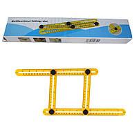 Мультифункциональная линейка Multifunctional folding ruler, фото 6