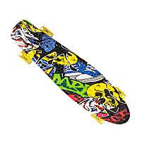 Пенниборд-скейт 24, колёса PU СВЕТЯЩИЕСЯ, фото 7