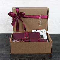 Женский подарочный набор кожаных аксессуаров Париж, фото 1