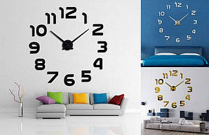 Большие настенные 3Д часы Арабские цифры арт.002.Бескаркасные часы 3D, фото 2