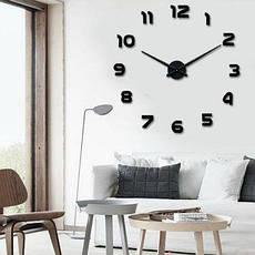 Большие настенные 3Д часы Арабские цифры арт.002.Бескаркасные часы 3D, фото 3