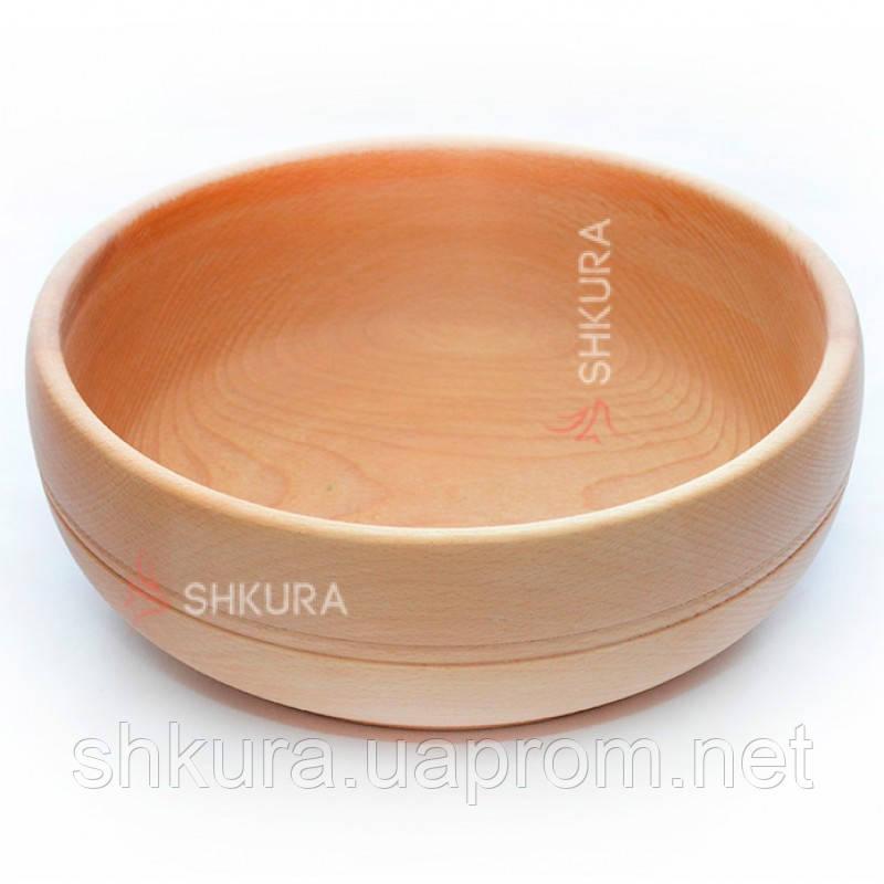 Деревянная тарелка 03. Глубокая