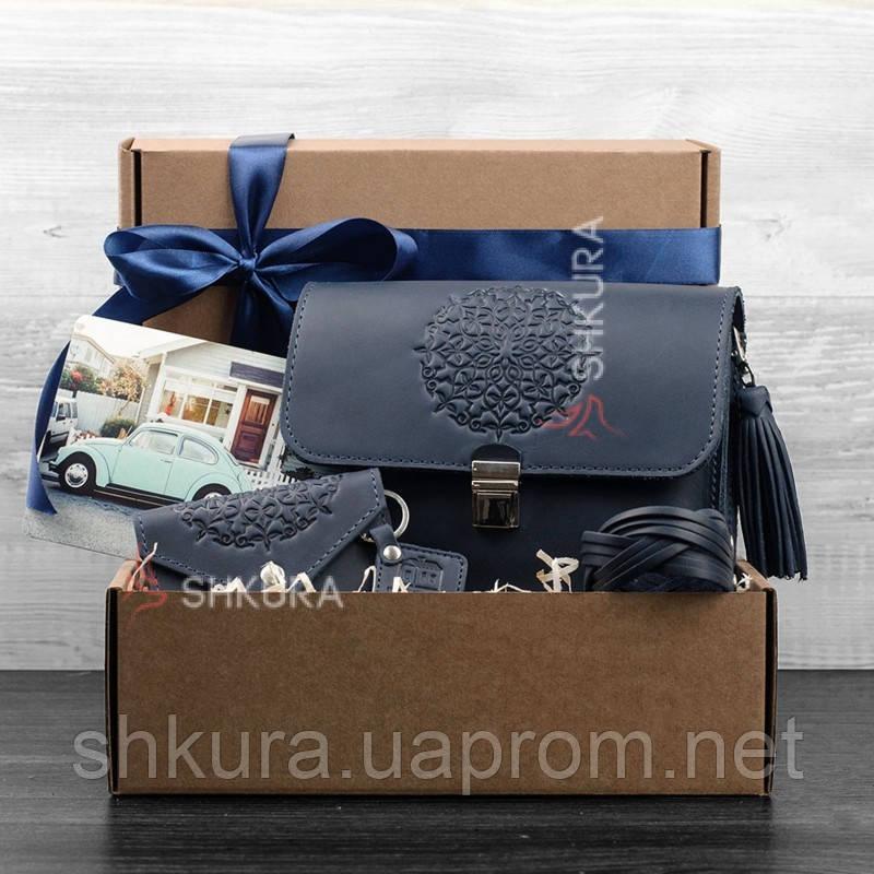 Женский подарочный набор кожаных аксессуаров Лондон