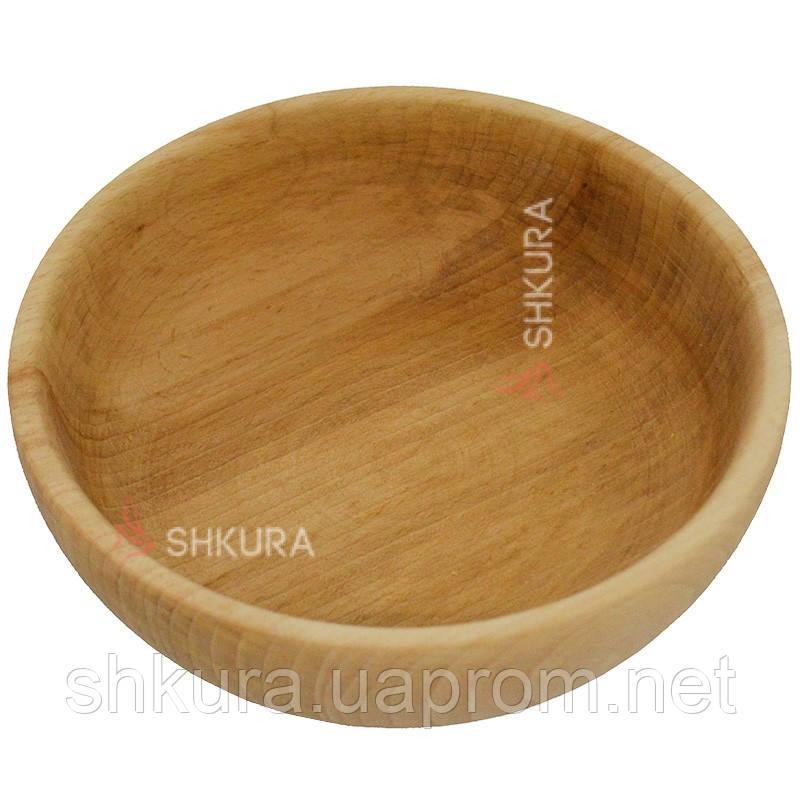 Деревянная тарелка 08. Глубокая