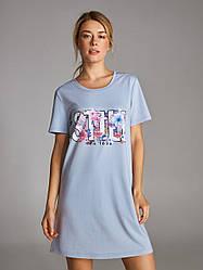 """Стильная ночная рубашка, домашнее платье, платье для отдыха """"still in love""""."""