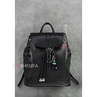 Кожаный женский рюкзак Олсен черный, фото 1