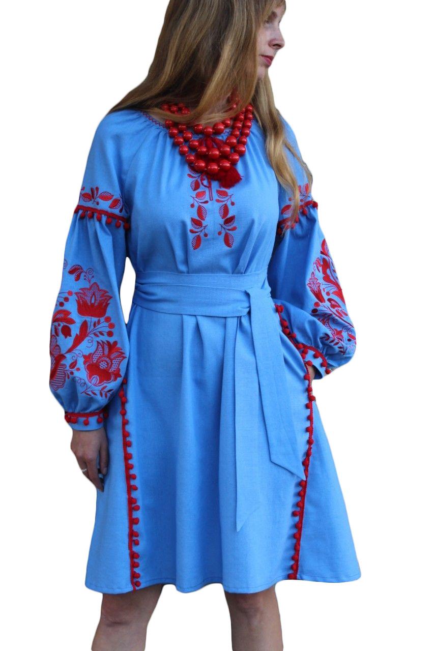 """Женское вышитое платье """"Аделин"""" PD-0007"""