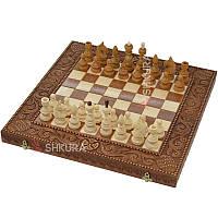 Шахматы, красное дерево. 50х50, фото 1