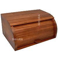 Хлебница деревянная 01, тонированная, фото 1
