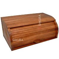 Хлебница деревянная 02, тонированная