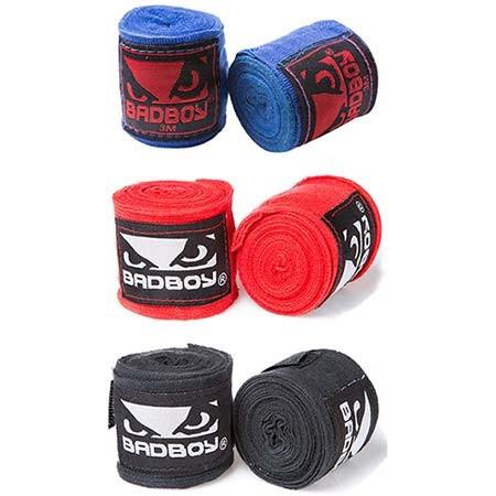 Бинт боксерский 3м, BadBoy, пара, синий, красный, черный...