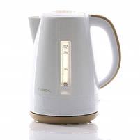 Электрический чайник LEXICAL LEK-1401 1.7л, 2200Вт (Бежевый, Розовый), фото 3