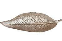 Декоратвное блюдо Лист, 60см, цвет - серебряный матовый BonaDi 450-882