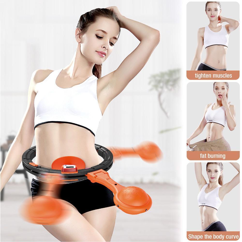Обруч HULA Hoop LED (W76) / ХулаХуп / обруч для похудения не падающий