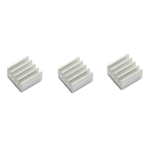 10x Радіатор алюмінієвий міні 11х11х5мм