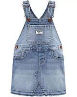 Детский джинсовый сарафан с потертостями ОшКош для девочки