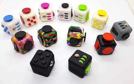 Фиджет-кубик 3.3х3.3х3.3 см Fidget Cube mini Антистресс спиннер куб, фото 2