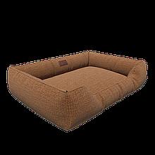 Мягкая лежанка с бортами и съемным чехлом HardYard 120х80 см Кофейный (HY-SB12080-C)