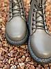 Ботинки женские демисезон Horoso на шнурках серые, фото 5