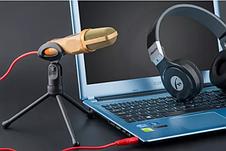 Конденсаторный микрофон со штативом SF - 666 компьютерный, фото 2