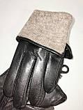Кожа-натуральная с шерсти сетка Angel женские перчатки кожаные только оптом, фото 4