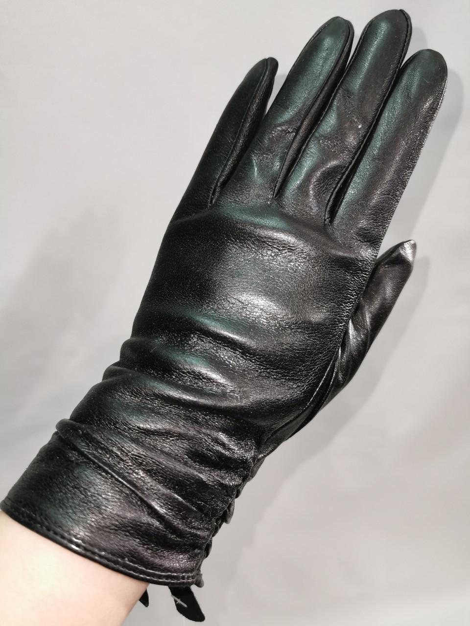Кожа-натуральная с шерсти сетка Angel женские перчатки кожаные только оптом