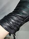 Кожа-натуральная с шерсти сетка Angel женские перчатки кожаные только оптом, фото 2