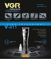 Профессиональная машинка для стрижки волос ProGemei, Aккумуляторная + Сеть на 220Вт, фото 3