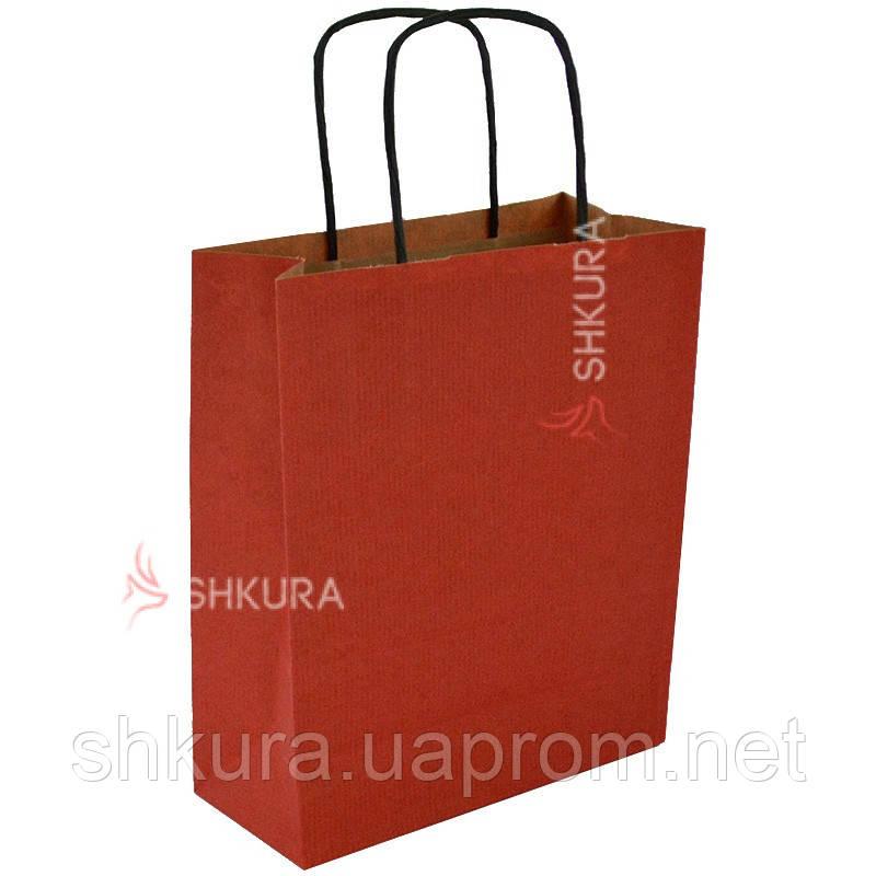 Пакет для подарков 18х9х23 см. Красный